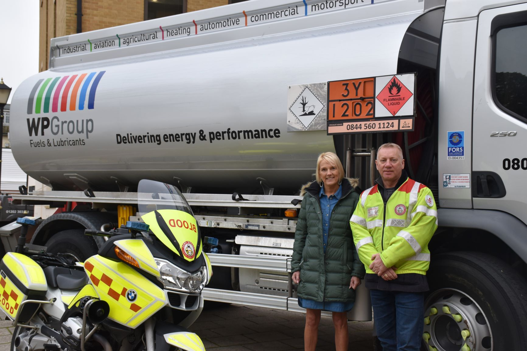 Fuel supply to charity