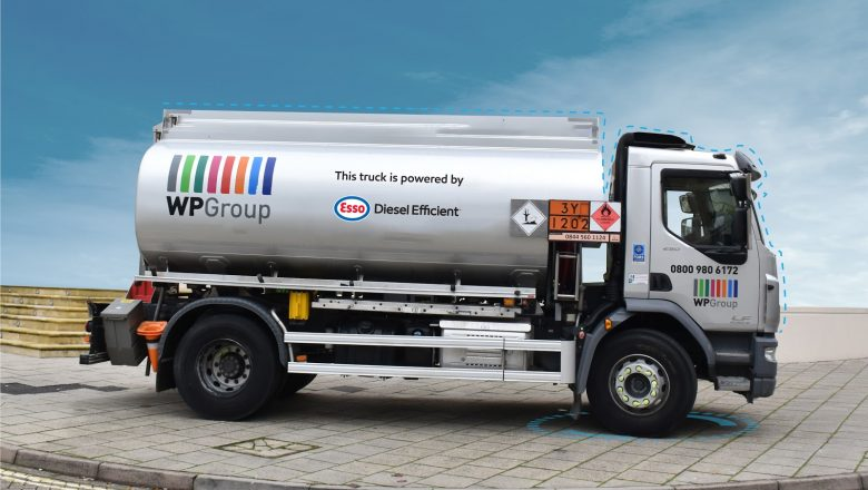 WP Group tanker running on the Esso Diesel Efficient fuel